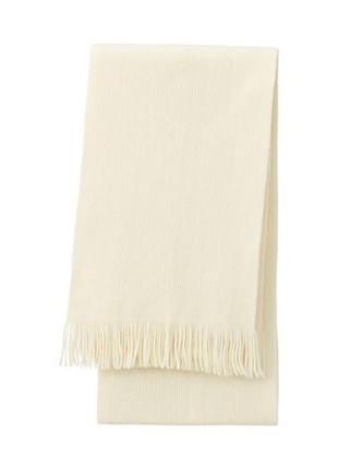 Uniqlo heattech knitted scarf мужской большой шарф
