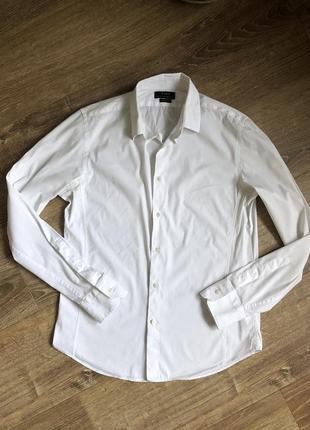 Мужская белая рубашка zara