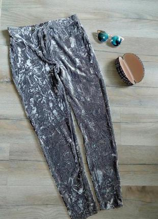 Знижки на все літнє+подарунки! стильні велюрові штани, бархатні брюки