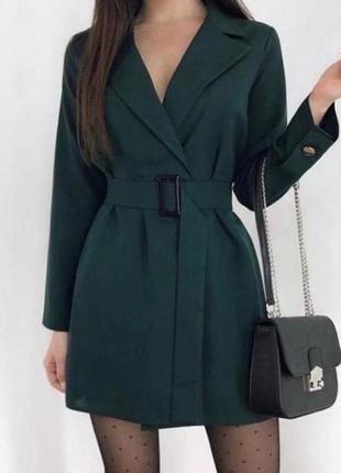 Изумрудное платье пиджак