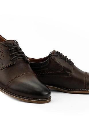 Распродажа мужские туфли кожаные весна/осень коричневые