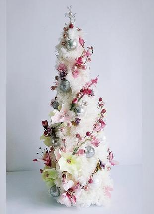 Роскошная новогодняя ёлка ручной работы на стол, композиции, подарки, декор
