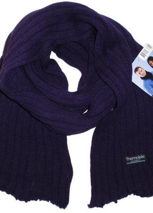 Вязаный шарф теплый женский мужской thermolite insulation нидерланды