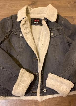 Diesel,оригинал, женская шерпа,стильная,теплая куртка шерпа,м-l