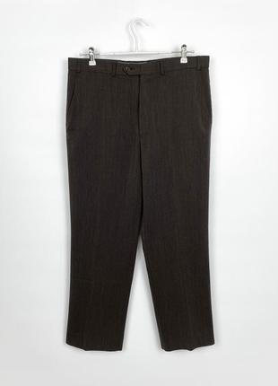 Брюки m&s regular fit wool brown trousers