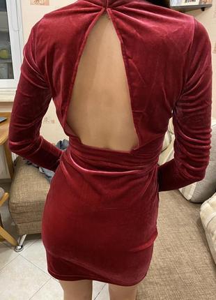 Платье h&m велюровое