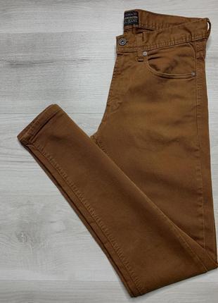 Чоловічі коричневі скінні від zara jeans