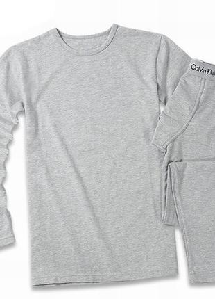 Мужское термобелье ck 365 (штаны + кофта), разные размеры, цвет серый