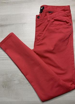 Рожево-червоні чоловічі джинси від h&m slim