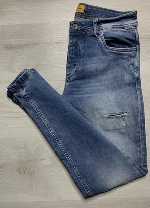Приталені стрейчеві джинси від jack&jones slim fit