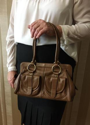 Елегантна жіноча сумка з натуральної шкіри f&f