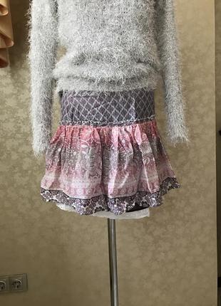 Мини юбка летняя bershka