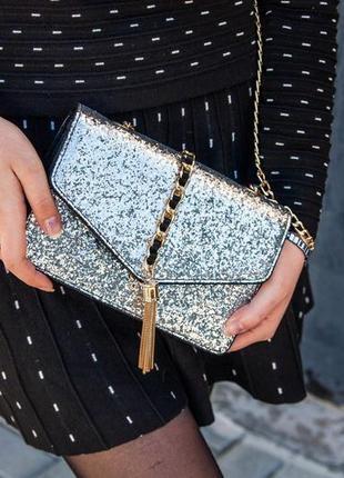 Черные сумки с блестками 2021 - купить недорого вещи в интернет-магазине Киева и Украины | Shafa