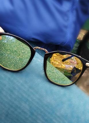 Женские солнечные стильные очки с жёлтыми линзами для вождения авто