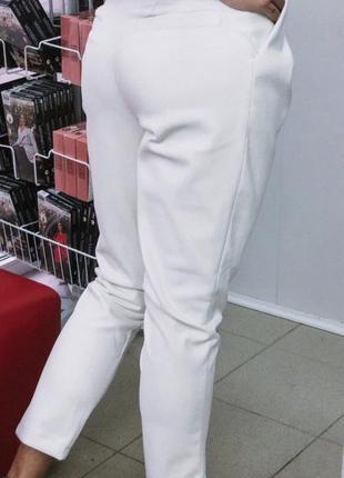 Белые джогеры эко кожа