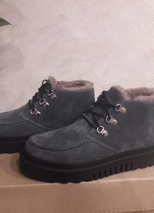Зимние ботинки замш р.36-41
