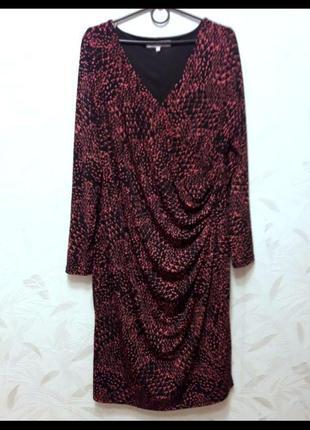 Нарядное, стрейчевое платье, 48-50-52, полиэстер, эластан, fwm