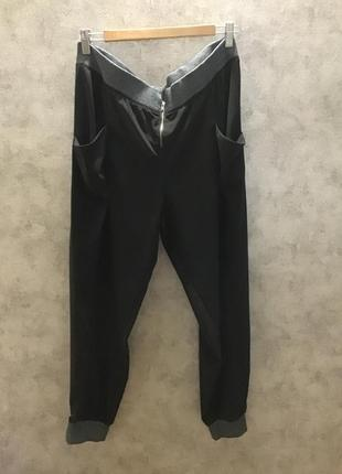 Чёрные свободные( спортивные) брюки next