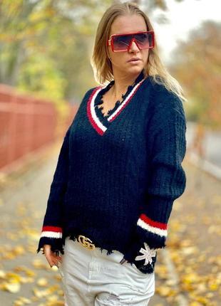 Теплый свитерок италия люкс качество