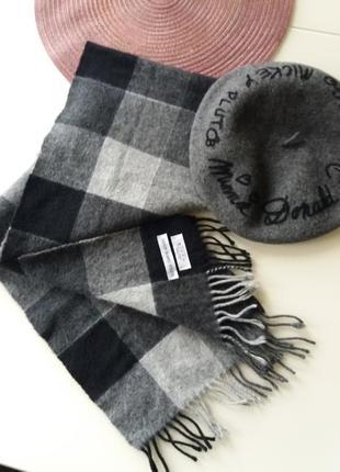 Кашемировый шерстяной шарф унисекс olivier francois ausoni швейцария