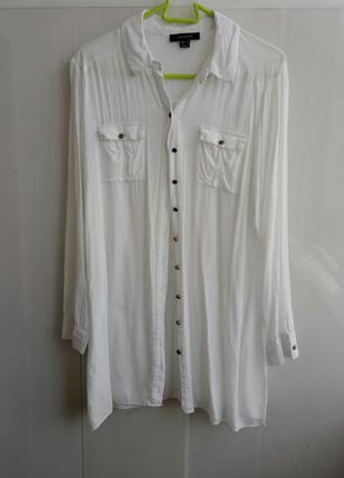 Белая рубашка вискоза oversize