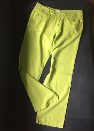 Великолепные  льняные штаны большого размера от швейцарского бренда  charles voegele