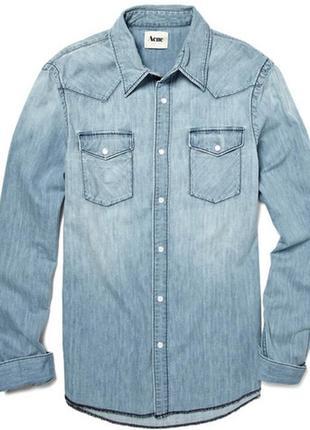 Мужская джинсовая рубашка acne