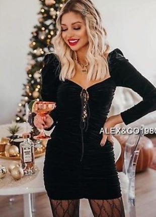 Платье вельветовое zara новогоднее велюр