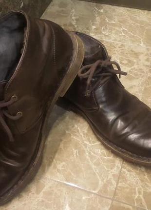Мужские кожаные ботинки ugg