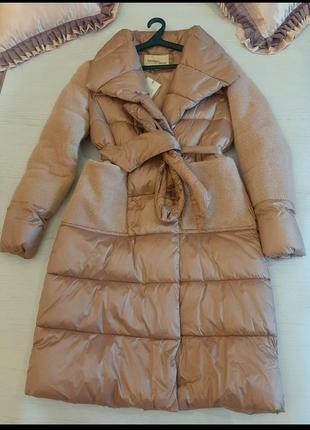 Зимний женский пуховик розовый 48р