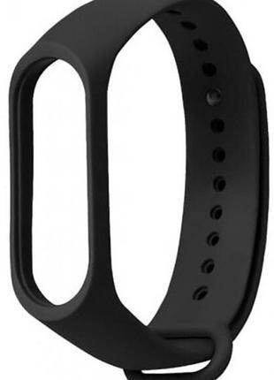 Силиконовый ремешок для xiaomi mi band 3/4 черный