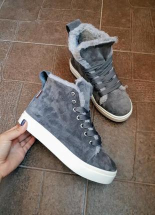 Высокие кеды натуральная замша р36-41 ботинки хайтопы сапоги чоботи хайтопи черевики кеди