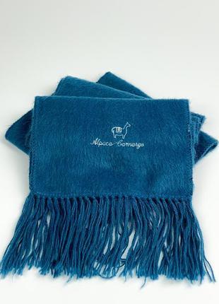 Шарф alpaca camargo scarf - ocean blue