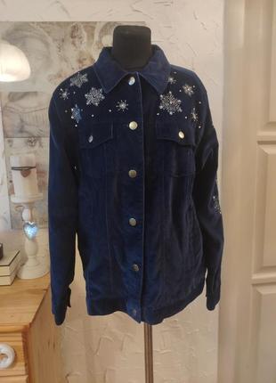 Винтажная бархатная куртка