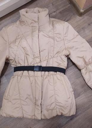 Дутая  фирменная куртка пуховик цвет беж gerry weber евро зима