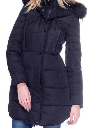 Теплое зимнее пальто-пуховик