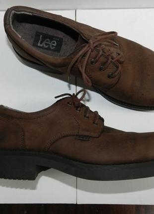 Туфли из нубука lee