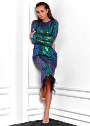 Платье вечернее в пайетку 11430