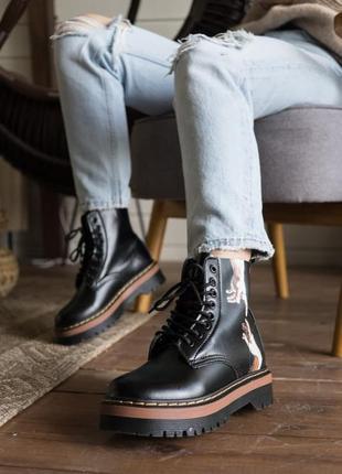 Dr.martens jadon black/brown🆕 шикарные ботинки доктор мартинс 🆕 купить наложенный платёж