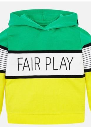 Пуловер свитшот кофта с капюшоном mayoral на 122 см