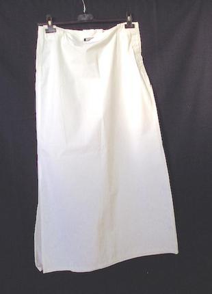 Юбка белая длинная,италия,100 % хлопок.фирма killer loo