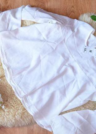 Нарядная белая блуза с воланами от terra nova