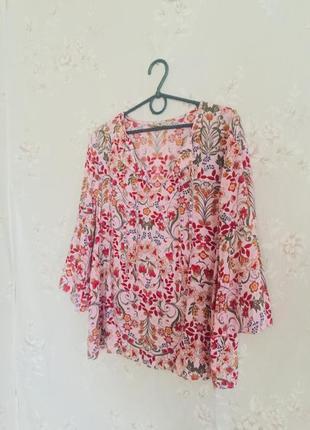 Невероятно красивая блуза / кофта 😍 в цветной принт🌸
