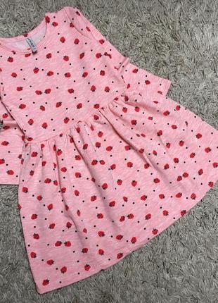 Тепла сукня, плаття на дівчинку 86-122