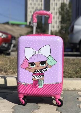 Уценка! пластиковый чемодан для девочки дисней / валіза пластикова