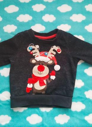 Новогодний свитер, новогодняя кофта rebel