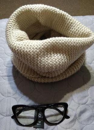 Объемный хомут шарф теплый🍁