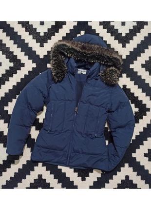 ❤️1+1=3❤️  теплая синяя куртка, ветровка, парка, пуховик