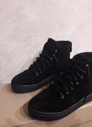 Замшевые ботинки зима/ демисезон/ 36-41