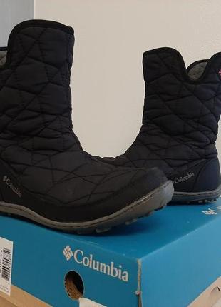 Черные ботинки сапожки columbia, 34 размер.